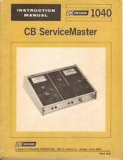 B&K CB ServiceMaster 1040 Tester-PDF Manual File Only...!!!