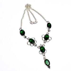 """Chrome Diopise 925 Sterling Silver Jewelry Necklace 16-18"""""""