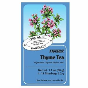 Salus Floradix - Organic Thyme Herbal Tea - 15 Bags
