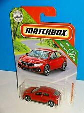 Matchbox 2019 MBX Road Trip #8 '17 Honda Civic Hatchback Red