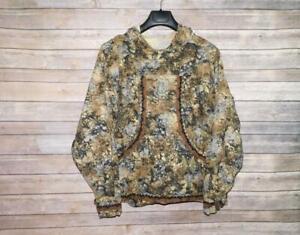 Alaska Native Eskimo Kuspuk 1X 2X Brown Black Print Tunic Shirt Hood Pockets
