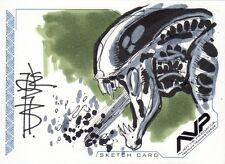 Inkworks AVP Alien Vs Predator Tone Rodriguez Sketch Card c