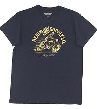 $95 RALPH LAUREN Men BLUE YELLOW DENIM & SUPPLY BIKE CREW NECK T SHIRT TEE XL