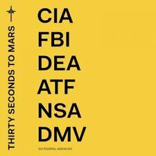 America 30 Seconds to Mars CD Album  CIA FBI DEA ATF NSA DMV Yellow Cover