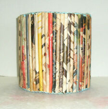 Vintage Handcrafted Waste Can Metal Posts Paper Rolls Unusual