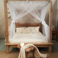 CANOPY TULLE  Mosquito Net for Four Poster Bed King,Queen