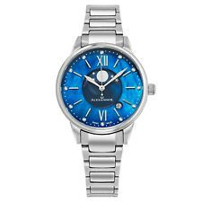 Alexander Blue Mother of Pearl Moon phase Face Swiss Made Women's Quartz Watch