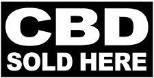 Cbd Sold Here Vinyl Banner Sign 2X4 ft - kb