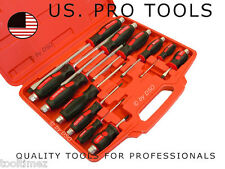 US PRO TOOLS 12 Pc Mechanics Go-Through Screwdriver Set A1503
