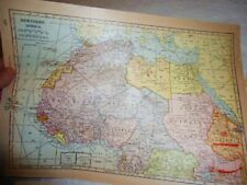 VTG 1947 Atlas Map of North Africa French West Belgian Congo Genealogy  WWII