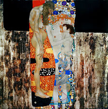 Gustav Klimt The three ages of woman canvas print giclee 8,3X8,3 reproduction