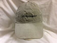 trucker hat baseball cap JEFFERSON WELLS retro vintage rare rave slide adjuster