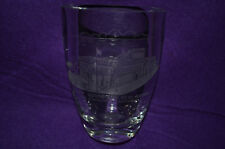 Seal Rocks,Cliff House & Whitney's Playland at the Beach Etched Leaded Vase SF