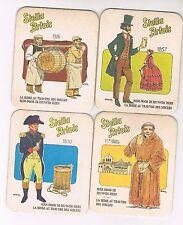 4 viltjes Br Stella Artois Bier door de eeuwen heen