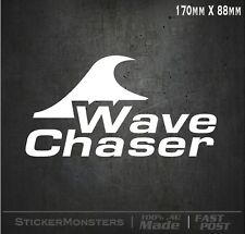 SURF STICKER DECAL WAVE CHASER 170mmW Car Van MBP Laptop Truck UTE Quicksilver