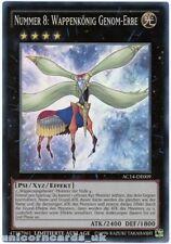 AC14-DE009 Number 8: Heraldic King Genom-Heritage Super Rare GERMAN YuGiOh Card