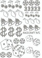 Maschera Di Vernice-Gambler - 1/12 1/10 1/8 1/5 Xray Schumacher Axial Tamiya Traxxas HPI