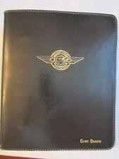"VINTAGE SOUTHWEST AIRLINESBLACK  LEATHER 7 RING BINDER - 9"" X 7 1/2"" - TUB PA"