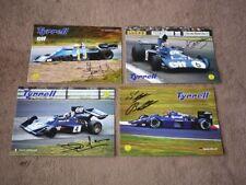 4x TYRRELL (Scheckter, Cevert, Depailler, Bellof) - 4x CZE Karte/card 10x15 cm