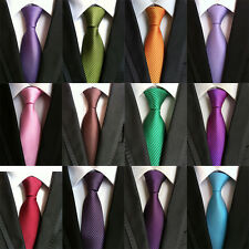 20 COLOR Classic Mens Ties Silk Necktie Solid Creases Stipres Woven JACQUARD Tie