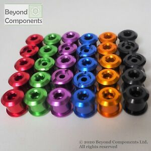 5PCS Colourful Anodised Bike Bicycle Chainset Chainring Bolts 5 pack