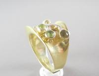 Silber Ring 925 mit natürliche Peridot