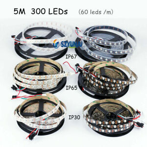 WS2812B Strip Light DC5V 5050 RGB 1m 5m 30-144 LEDs IC Individual Addressable