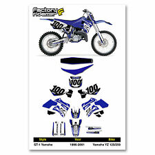 1996-2001 YAMAHA YZ 125-250 Graphics Kit  Seat Cover Motocross Graphics Enjoy