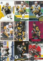 SIDNEY CROSBY a lot of 9 DIFFERENTS CARDS INSERTS  LOT 86