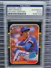 1997 Donruss Greg Maddux Rated Rookie Auto RC #36 PSA/DNA Authentic R103