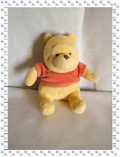 N - Doudou Peluche Winnie Pull Rouge Pâle Grelot Winnie Disney Baby Nicotoy