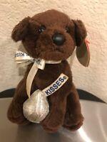 Ty Beanie Baby CHOCOLATE KISS the Hersheys Kisses Dog 2007 Plush Pellet Error