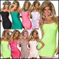 Sexy Ladies Bodycon Mini Dress Womens Pencil Clubwear Dress One Size 6,8,10 UK