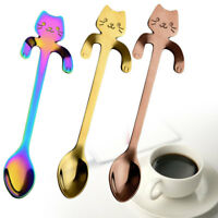 Kitty Cats Spoon Stainless Steel Tea Coffee Spoons Ice Cream Cutlery Tableware