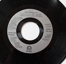 U2, discotheque / holy joe, SP - 45 tours  juke box UK