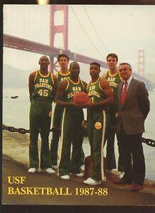 1987/1988 NCAA Basketball University of San Francisco Yearbook EXMT
