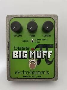 Used Electro-Harmonix Bass Big Muff Pi Distortion Guitar Effect Pedal free ship