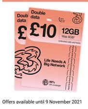 Moving to UK? THREE 3 NETWORK Sim Card Pay As You Go Trio SIM CARD 5G