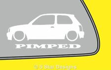 2x PIMPED /fits Nissan Micra K11 outline silhouette sticker decal LR253