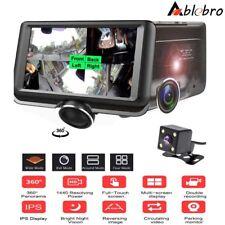 "360° Panoramic 4.5"" HD Car Dash Cam Dual Lens Rear View Camera DVR Video Monitor"
