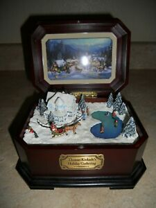 Thomas Kinkade's Holiday Gathering Cherished Christmas Music Box Collection 2002
