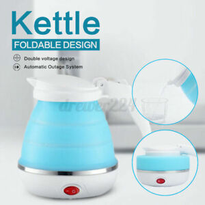 600ML Electric Kettle Mini Collapsible Travel Kettle Silicone Water Boiler New