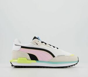 Womens Puma City Rider Trainers Grey Pink Lady Trainers Shoes