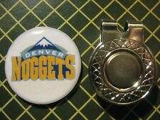 GOLF / Denver Nuggets Logo Golf Ball Marker/with Magnet Hat Clip New!!