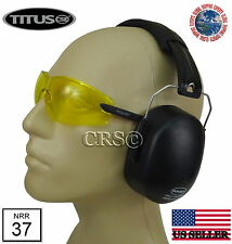 OSHA ANSI CERTIFIED 37 NRR EARMUFFS HEARING NOISE PROTECTION SHOOTING RANGE EAR