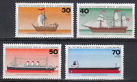 Germany West Berlin 1977 MNH Mi 544-547 Sc B133-136 Historic Ships boats **