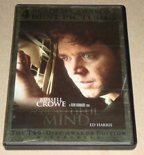 A Beautiful Mind Awards Edition 2 DVD Set Russell Crowe Jennifer Connelly