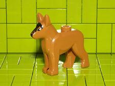 Lego Medio Oscuro Carne Perro alsacianos perro policía NUEVO