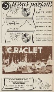 Y8393 C.Raclet - Tissus Parfaits - Advertising D'Epoca - 1937 Old Advertising