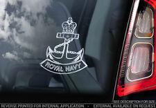 Royal Navy - Car Window Sticker - Military British Marine Anchor Army Decal -V01